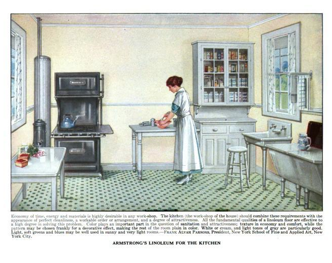 "a model kitchen"": images of vintage kitchens, appliances, etc."