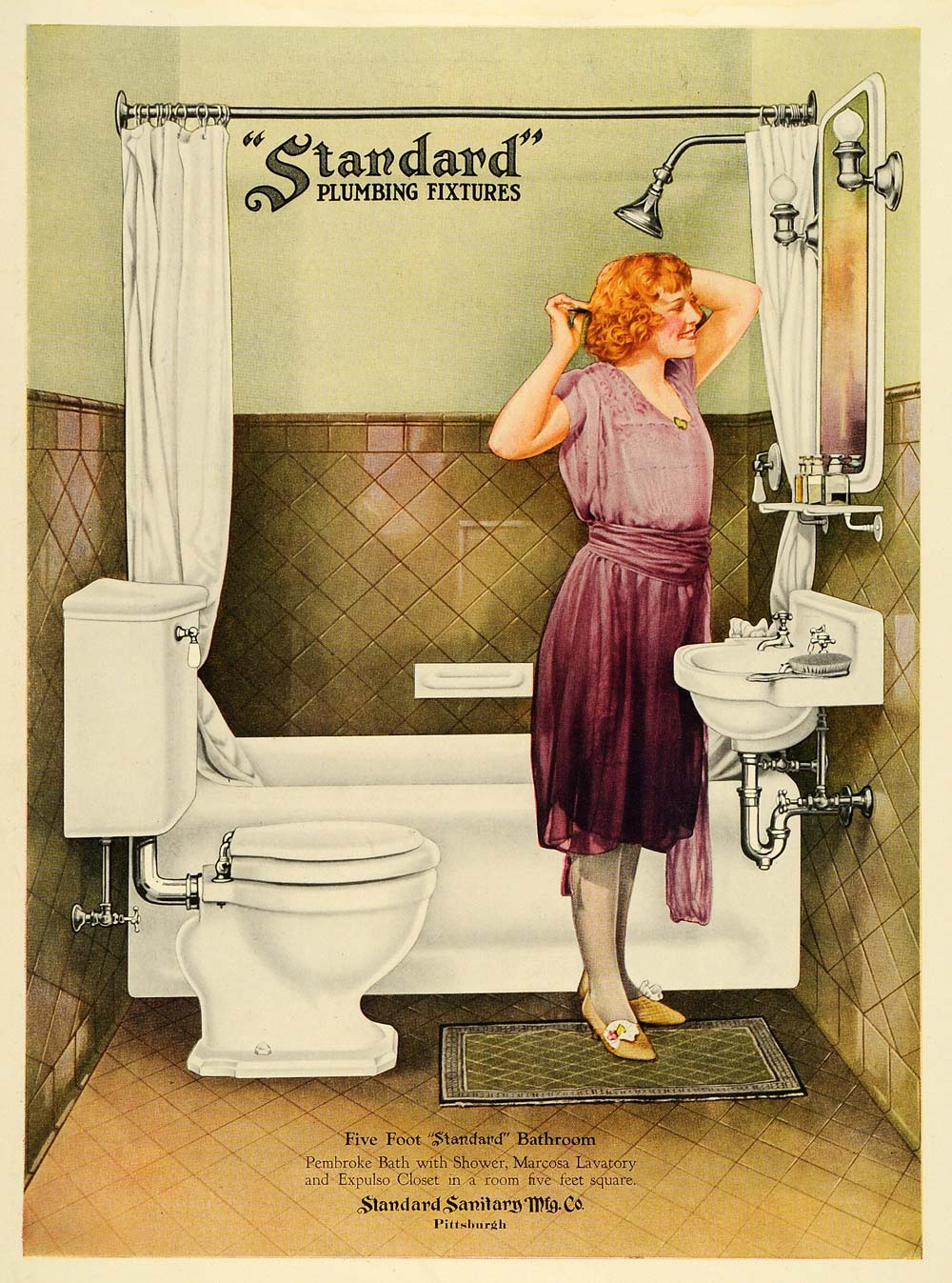 Bathrooms slumberland for Bathroom ideas 1920s home