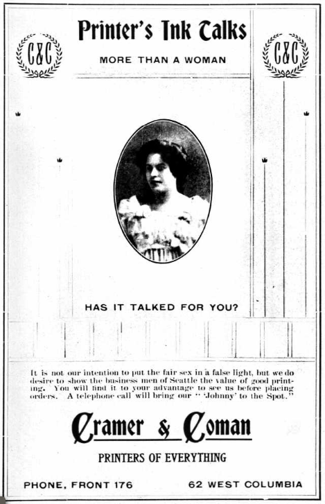 Ad in a Seattle city directory, 1902.