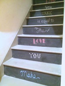 Closer look at the stairs