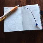 Here's one of the bookmarks. The graph paper is a Midori insert.