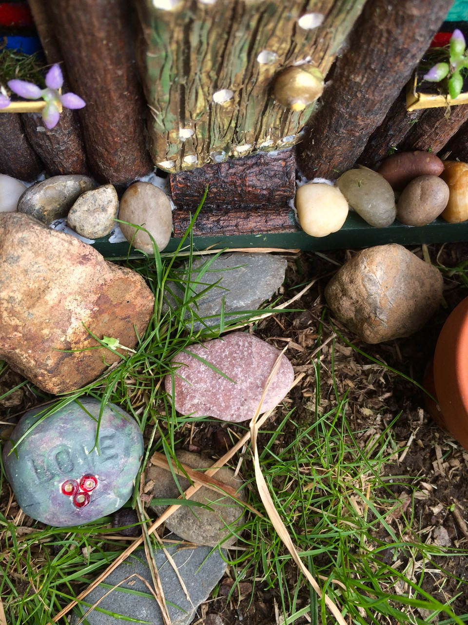The front step of a new fairy house.